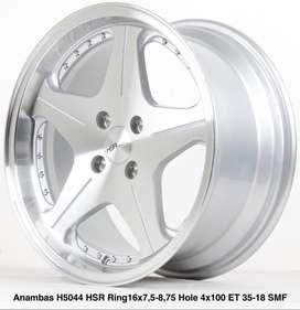spesial velg racing ANAMBAS 5044 HSR R16X75/875 H4x100 ET35/18 SMF