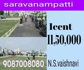 Direct owner -Dtcp plots sale saravanampatti  kumaraguru near