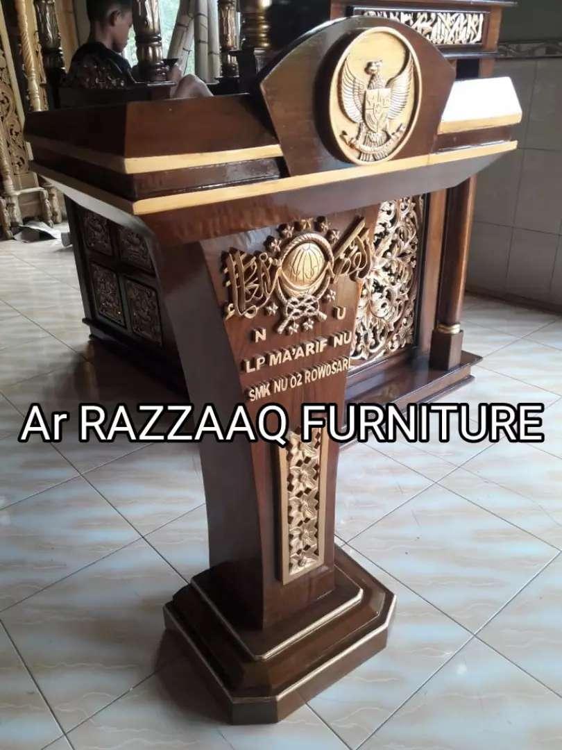 Mimbar kayu jati Ar Razzaq -0234