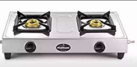 Steel Gas stove two burner