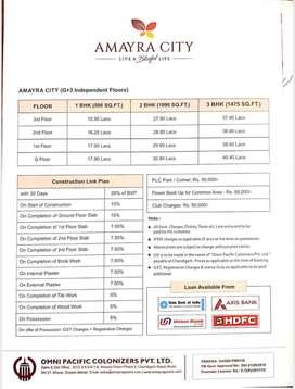 3bhk amayra city 2nd floor for sale on kharar chd highway