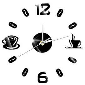 Taffware Jam Dinding DIY Giant Wall Clock Quartz Creative Design 50-60