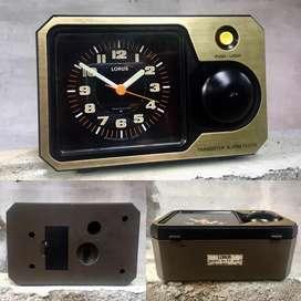 Jam transistor Seiko Lorus alarm clock