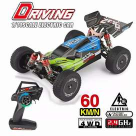 Rc car Buggy WL144001 1 / 14 , 4WD 60 km / jam  metal chassis RTR