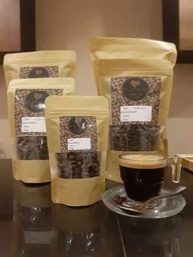 Biji kopi Robusta bisa request giling