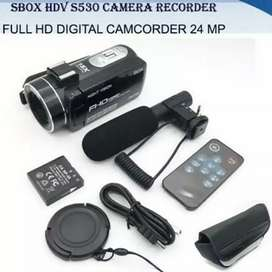 handycam SBOX 530 24Mp HD full set,kamera