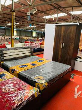 Bedroom set at factory price ON EMI