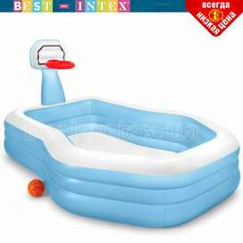 """INTEX 57183 (size:101""""/74""""/51"""") inflatable shooting hoope swimming set"""