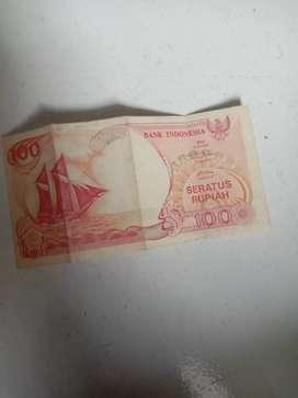 Uang Kertas Seratus Rupiah Perahu th 1992