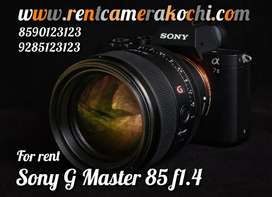 Sony G Master 85 1.4 available for rent