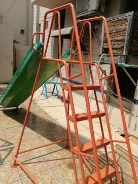 Used. Swing. See saw. 7 feet slide. Immaculate condition