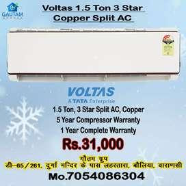 Voltas ac split 1.5ton new model 3star best price 5year warranty