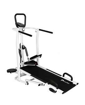 Powermax Fitness MFT-410 4 in 1 Multi-function Manual Treadmill