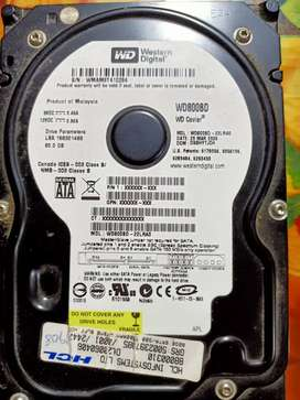 Internal Hard Disk - 80 Gb