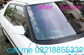 Car screen window buff polish