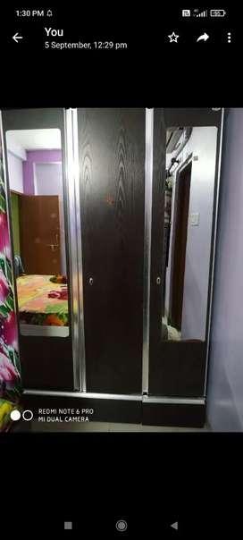 3 door Partcle board Wardrobe