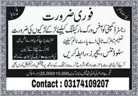 Good opportunity for male and female