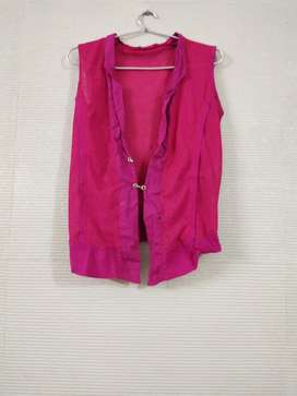 Pink shrug