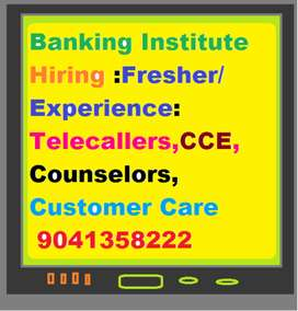 Banking Institute Hiring 100  Telecallers Fresher/Experienced/  Tele s