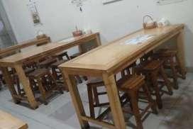 Meja kayu ex depot bakso uk 180x70cm