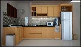 Minibar kitchen set minimalis furniture HPL RAA