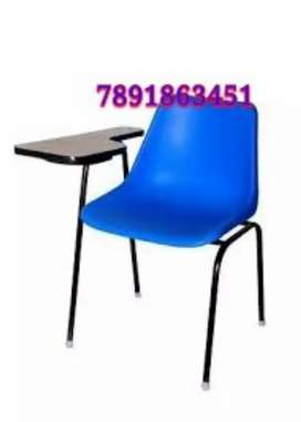 Neww writing chair with wooden arm