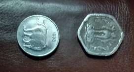 Coin of 25 paise and 3 paise