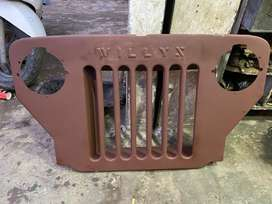 Front grill for high bonnet jeeps