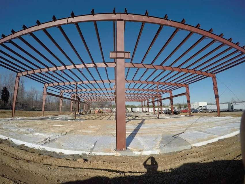 steel structure for industry roof prefab homes in Pakistan 0