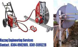Concrete cutting sawing grooving and core cutting services