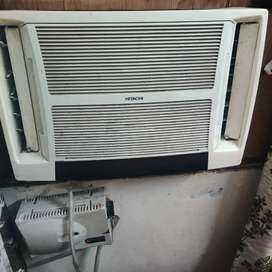 hitachi window a.c 1.5 ton with twin blower and stabilizer v guard