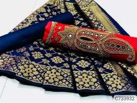 Cotton hand work dress materials