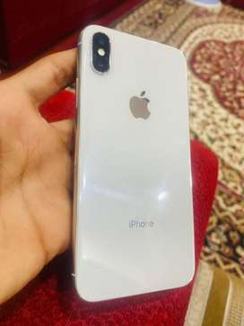 IPHONE X 64GB SILVER FRESH CONDITION WITH ORIGINAL ACCESSORIES