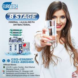 Ro Plant Euro Tech 8 Stage Taiwan Water filter purifier 100 GPD