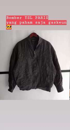 Bomber jacket YSL (YVES SAINT LAURENT) made in Paris size L