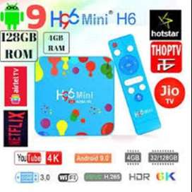 Android Smart Tv Box 6K Supported | Quad|4G|32G|Android9 H96 Mini