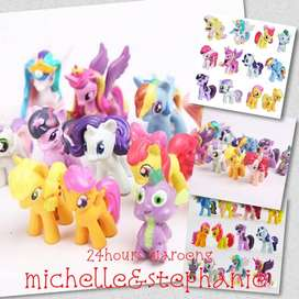 SAY05-Mainan Anak DHY Set 12Pcs Action Figure My Little Pony, Spike