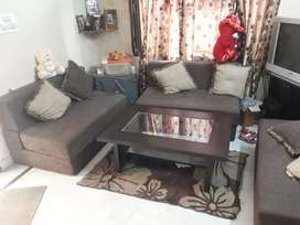 Sofa Cum bed set 2seater 3 sofa with nice cushions &; table