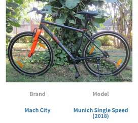 Hercules mach city munich single speed cycle