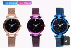 Women's Stylish Watches (NEW)   Stainless Steel Magnet Buckle Watch