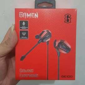 GAMEN GE100 Gaming Earphone Double Microphone