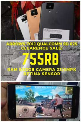 Arrows F01J Ram 3/32GB Camera 23/5Mp Retina sensor Game HD LANCAR JAYA