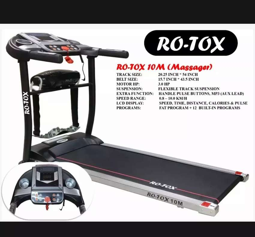 Treadmill, Running Machine,Auto Running Machine, Rotox 10M Treadmill