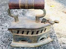 Ancient brass iron box