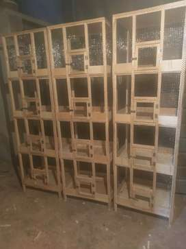 4 portion wooden cage