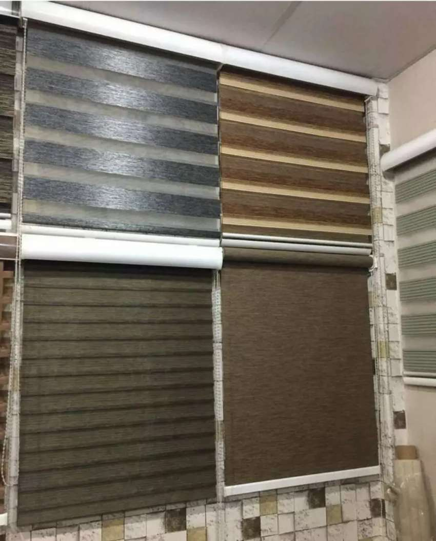Window blinds for offices roller or vertical