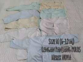 Pakaian bayi M (9-12) merek NOVA 1 set 9 pc