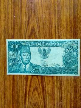 Uang Rp 1000 Sukarno tahun1964, ASLI.