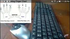 Any Hindi English typing Computer work
