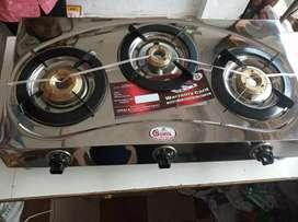 Surya 3burner steel gas stove